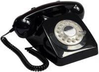 Protelx Gpo 746 Rotary Telephone – Black