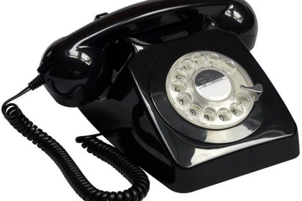 Protelx Gpo 746 Rotary Telephone - Black