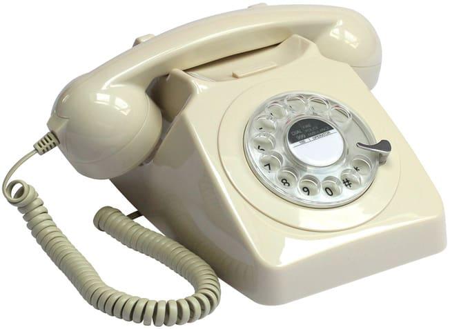 Protelx Gpo 746 Rotary Telephone - Ivory