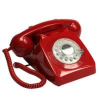 Protelx Gpo 746 Rotary Telephone – Red